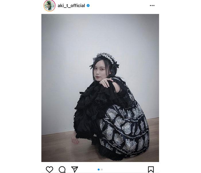 HKT48 豊永阿紀、フランス人形のようなロリータファッションを披露