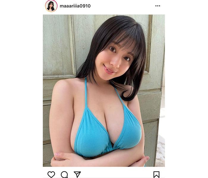 海野まりあ、目ヂカラ抜群な圧巻美バストショット!