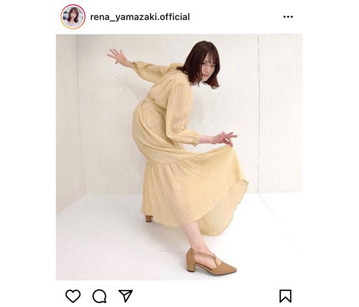 乃木坂46 山崎怜奈の躍動感あるポージングがスゴい!「乃木坂モデル勢どなたか指導してください」