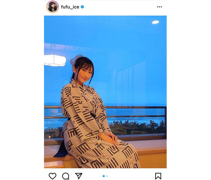 矢倉楓子、彼女感あふれる浴衣姿で旅館を満喫