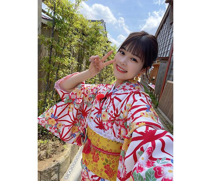 AKB48 吉川七瀬の爽やか着物姿に歓喜の声!「さすが晴れ女」