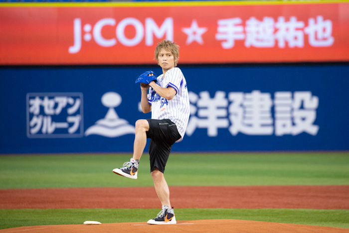 手越祐也、地元横浜で人生初の始球式!「80点くらいはあげてよいと思います」