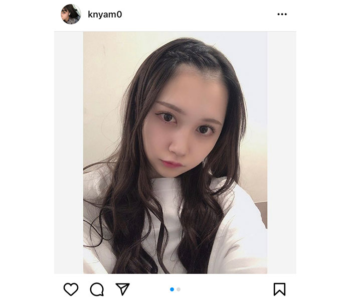 SKE48 赤堀君江のデコ出しレアショット公開「ホントお顔が天才」