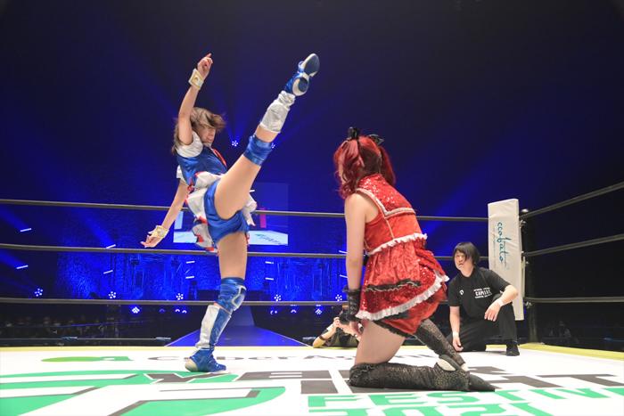 SKE48 荒井優希、初の有観客試合でプロレスデビュー2戦目