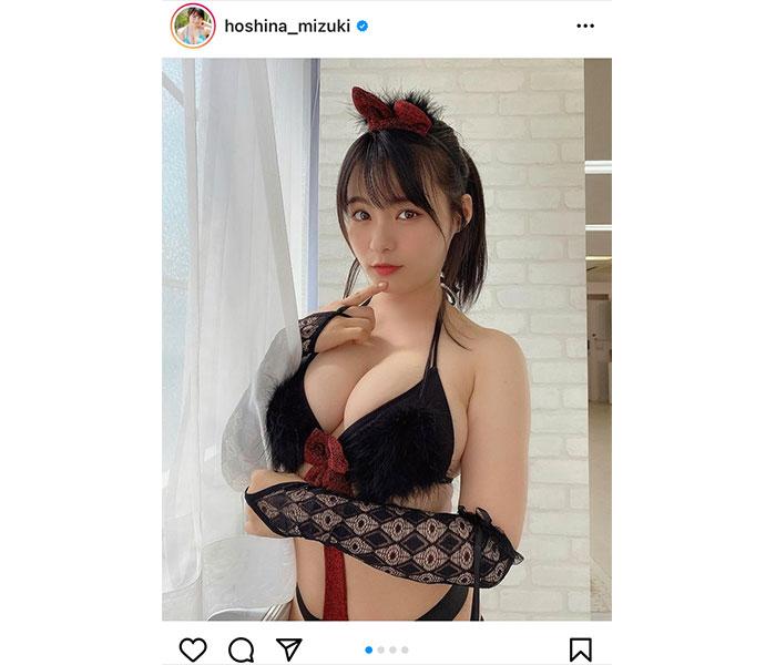 星名美津紀のセクシー猫ビキニに悩殺!「美しく綺麗」「最っ高!!!」