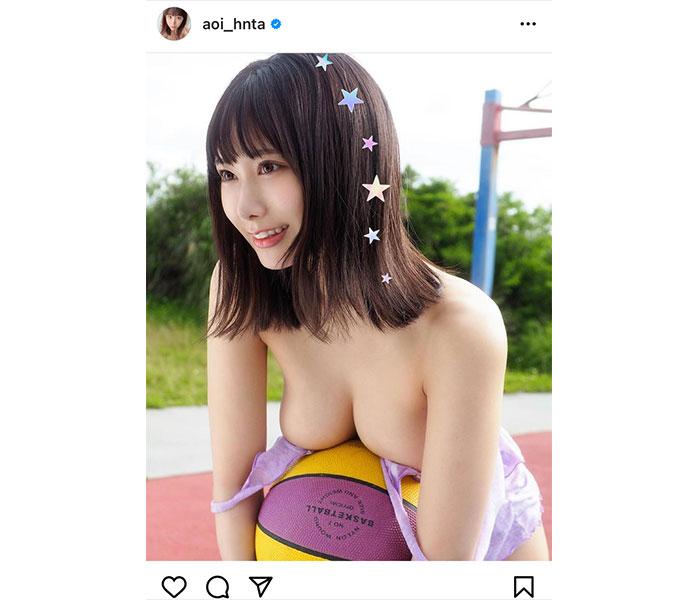 """日向葵衣、""""ぷにぷにぃ""""なやわらか美バストに釘付け!"""