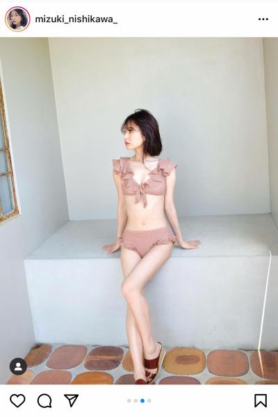 西川瑞希、フリルが可愛いCherie Monaの水着姿を披露!「可愛い水着」「毎年かわいい」