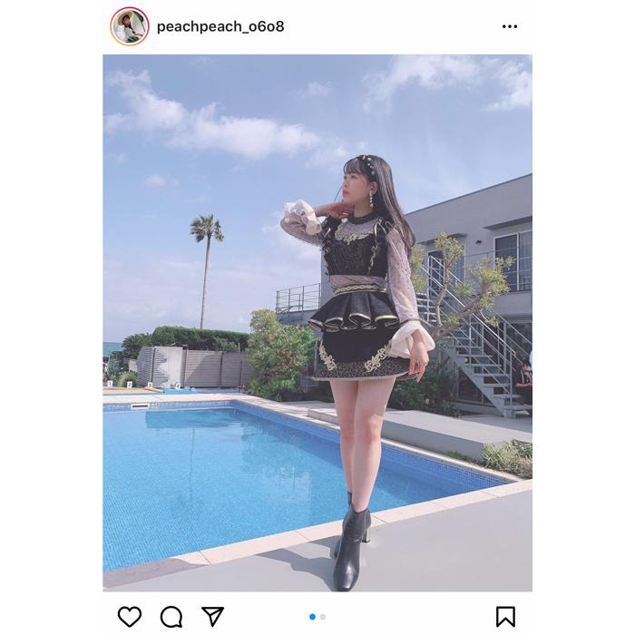 NMB48 安田桃寧、新曲『シダレヤナギ』衣装でスタイル抜群な美脚を披露!「スタイル天才か、、、」
