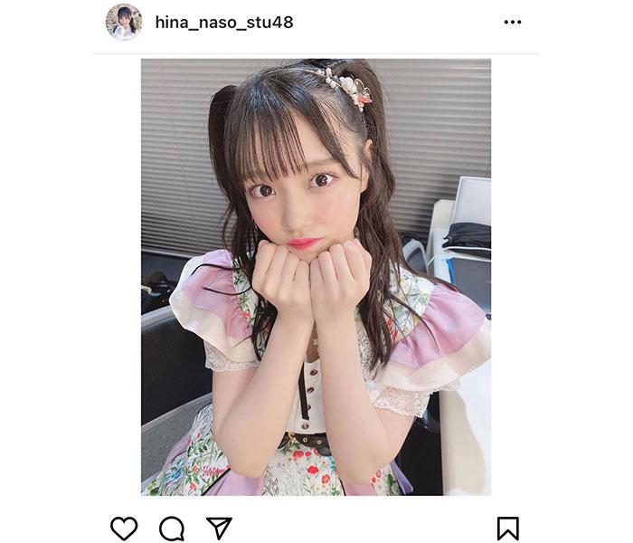 STU48 岩田陽菜、ハーフツインの髪型で抜群のアイドルショットにドキドキ