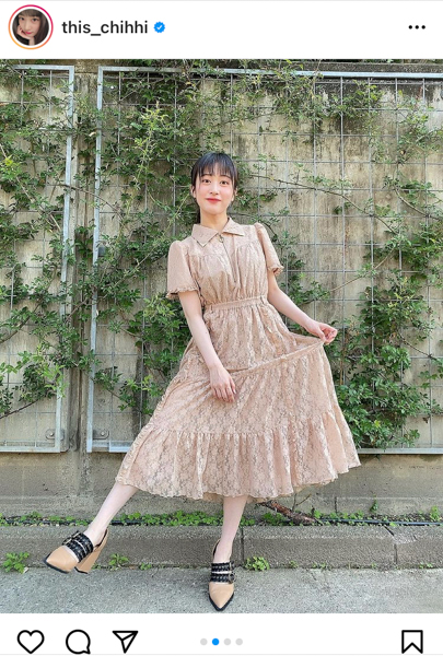 NMB48 川上千尋、ワンピース姿のデートコーデに絶賛の声