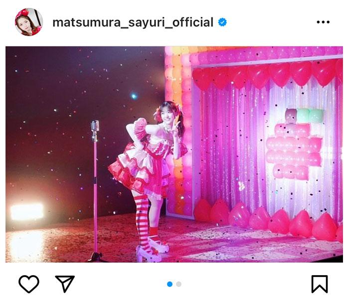 乃木坂46 松村沙友理、ソロ曲MVオフショットで「さゆりんごパンチ」