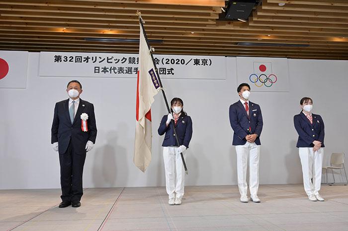 JOC会長・山下泰裕が日本代表選手団結団式で東京オリンピックに向けて語る! 「コロナ禍でスポーツは人と人を繋ぐ。選手は誇りを持ってフィールドで輝いてほしい。」