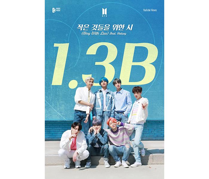 BTS、「Boy With Luv (Feat. Halsey)」のMVが13億ビュー突破!