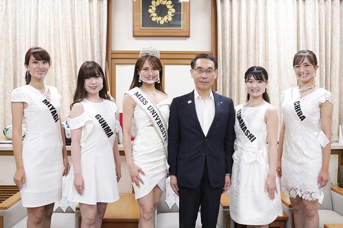 ミスユニバーシティグランプリ5名が埼玉県大野知事を表敬訪問!