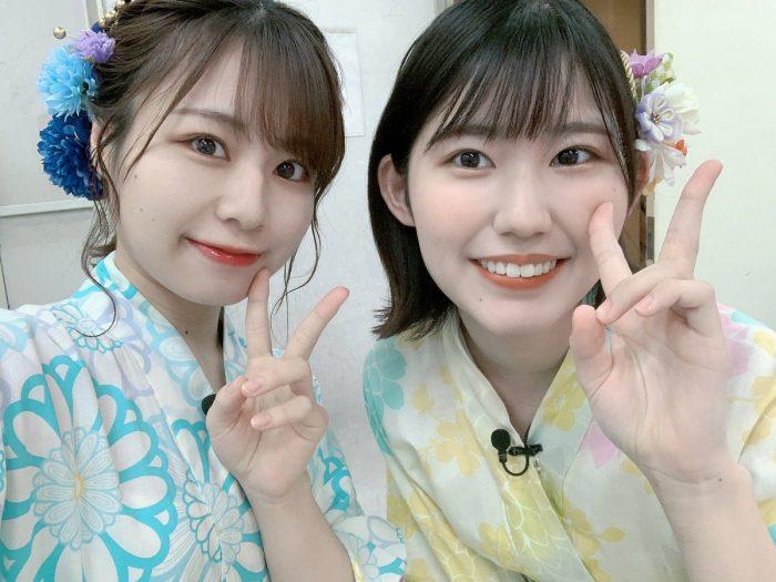 SKE48 青木詩織、後輩・青木莉樺との浴衣2ショット公開