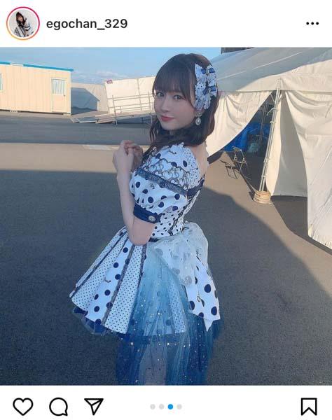 SKE48 江籠裕奈、ドット柄のソロ衣装で完全燃焼!「アイドルフェスたのしい」