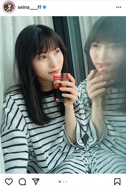 AKB48 福岡聖菜、セルフプロデュースの生写真オフショット公開「聖ちゃん可愛過ぎ」「日常感が好き!」の声も