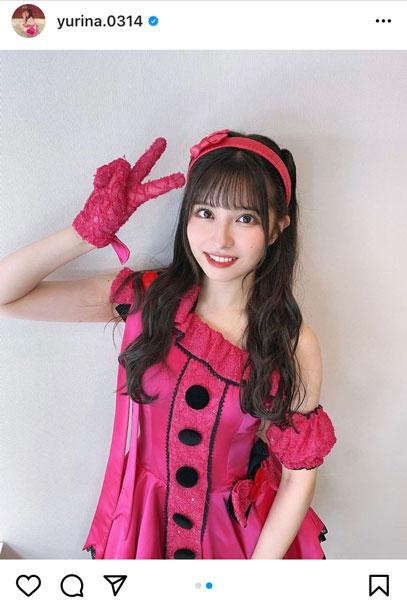 AKB48 行天優莉奈、『アイドルなんて呼ばないで』の衣装で魅せるアイドルポーズに「可愛い!」の声殺到