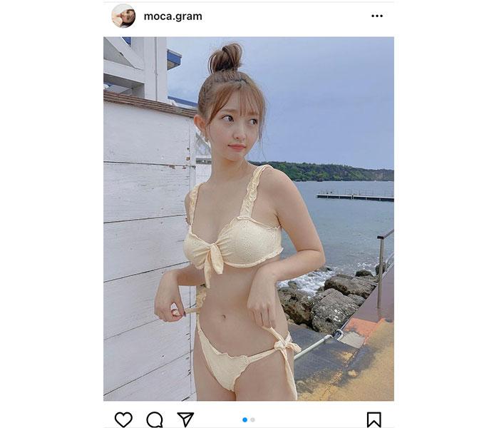橋本萌花、健康美に見惚れる「海の日」ビキニ