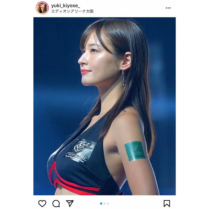 清瀬汐希、美しすぎる横顔に反響!ラウンドガールコスチューム姿を公開。「美しい」「かわいい」