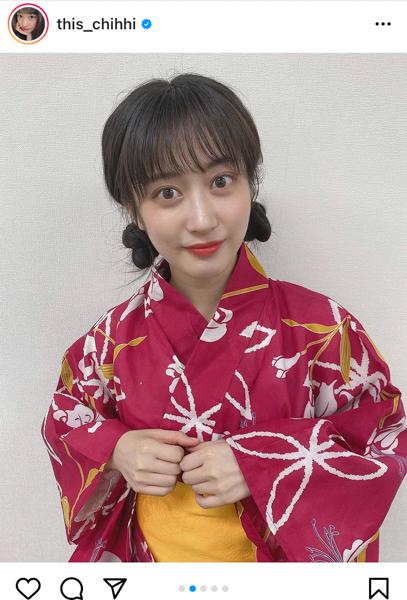 NMB48 川上千尋、浴衣姿で気分は夏祭りデート!「綺麗過ぎてトロけそう」