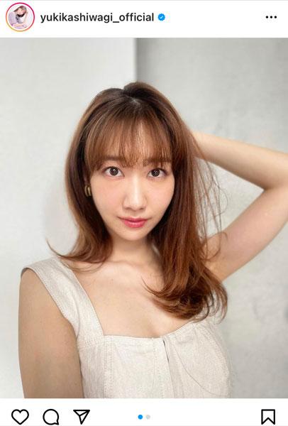 AKB48 柏木由紀、真顔で見つめる自撮りポートレートに反響!「真顔でも可愛いです」