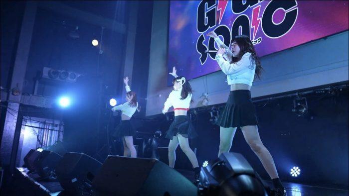 3人組アイドルグループ・ヒップバーンが会場を3色に染め上げる!<GIGA・GIGA SONIC Powered by TSC>