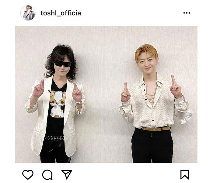 Toshl、佐野玲於・ToshIOとの兄弟2ショット公開