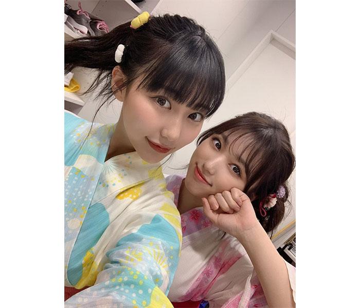HKT48 田中美久、矢吹奈子との浴衣2ショットに歓喜の声!「なこみく最高」