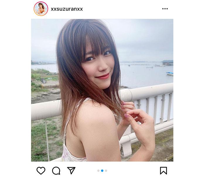 SKE48 山内鈴蘭、健康美あふれるビキニショット公開「等身大の自分を表現」