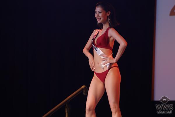 ミス北海道・吉田小夏さんが赤水着で美ボディ披露!<2021ミス・アースジャパン日本代表>