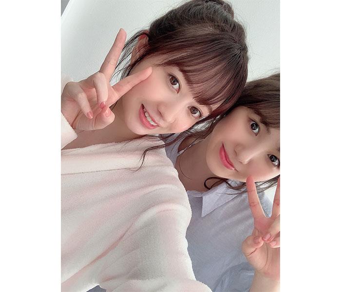 SKE48 江籠裕奈、菅原茉椰とコラボグラビア! 撮影中のオフショットも公開