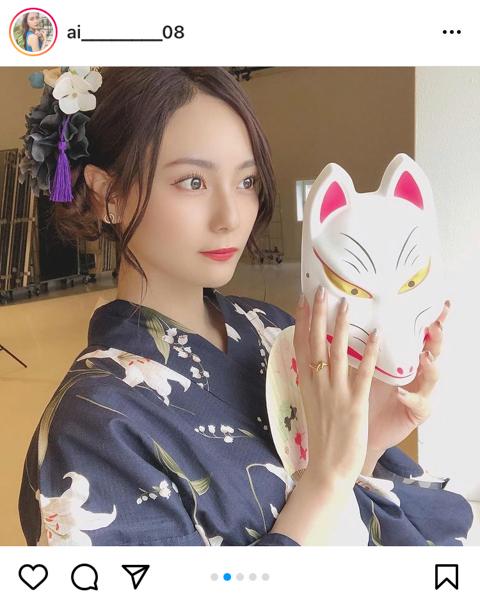 ラストアイドル 池松愛理、今年初の浴衣姿に「かわいすぎて直視できない」