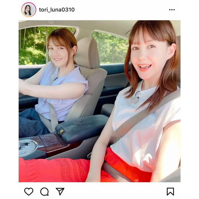 トリンドル瑠奈、姉・トリンドル玲奈とのドライブ2ショットを公開!「美女姉妹だね」