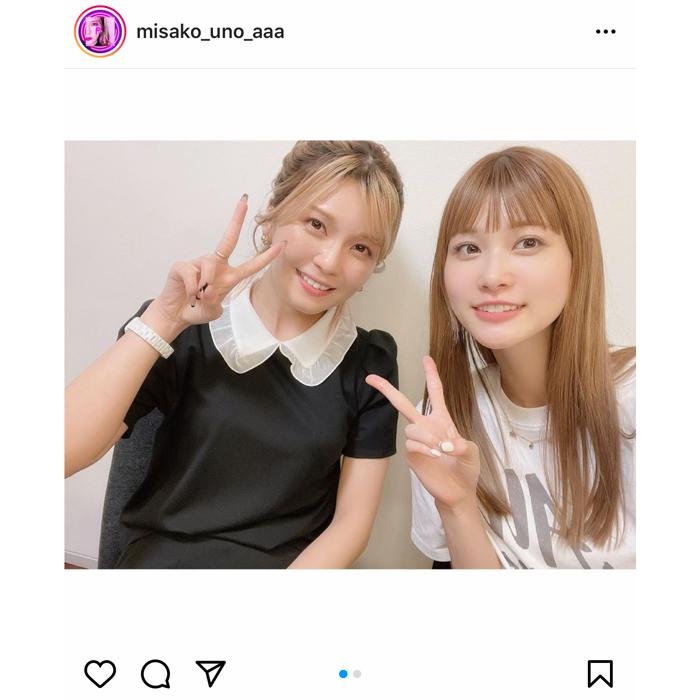 AAA 宇野実彩子、めるるとのツーショット写真を公開!まるで姉妹のようなやりとりにファン歓喜。
