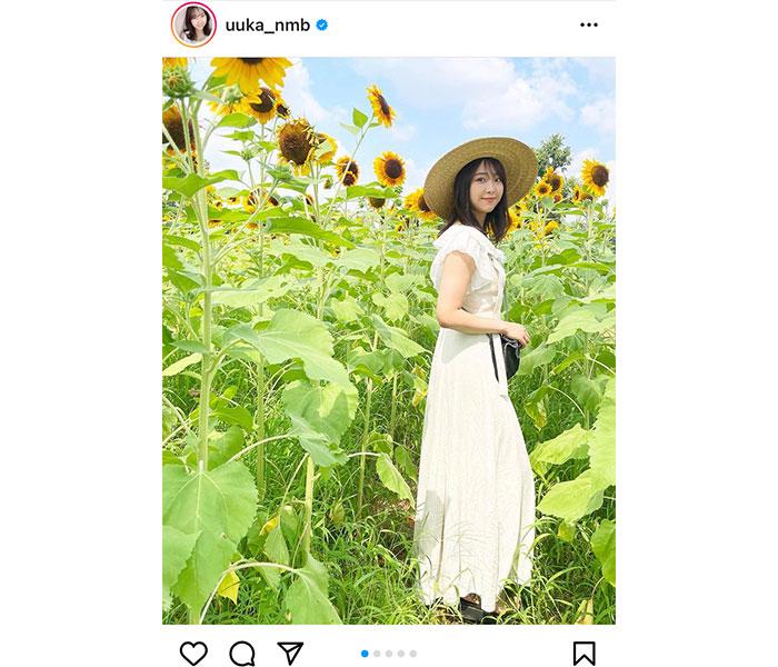 NMB48 加藤夕夏、向日葵畑で過ごすサマーショット公開