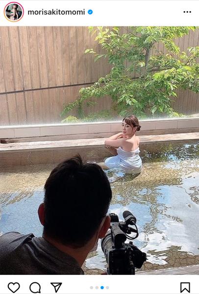森咲智美、露天風呂で艶やかな美背中披露!