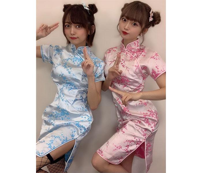 NGT48 中村歩加、中井りかの誕生日をチャイナドレスの2ショットでお祝い