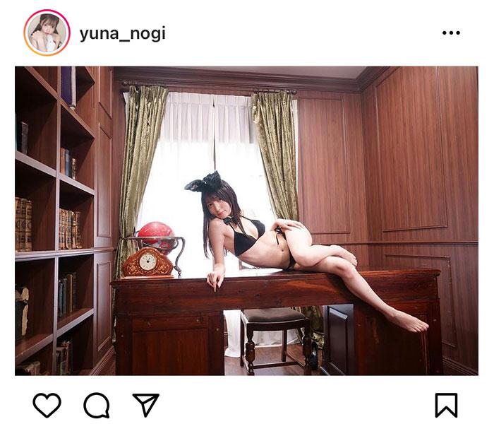 乃木結夢がセクシーなバニーガールに変身!