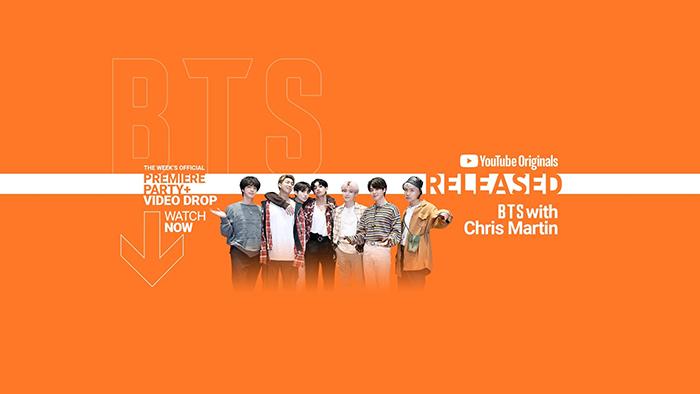 BTS、コールドプレイのクリス・マーティンと一緒にYouTubeオリジナルミュージックショー「RELEASED」に出演