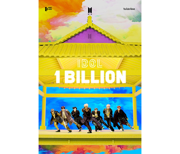 BTS、 「IDOL」のMVが10億回再生突破