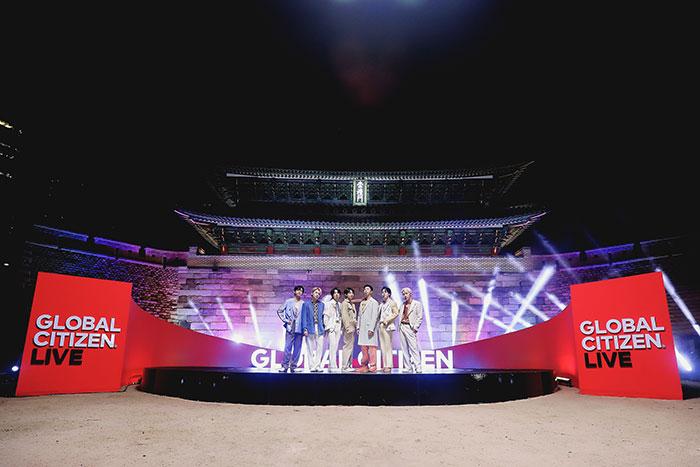 BTS、「2021 Global Citizen LIVE」のオープニングを飾る