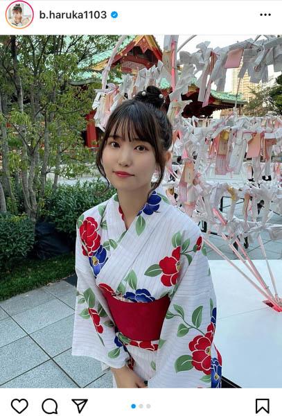 JamsCollection 坂東遥が浴衣姿を披露「凄く可愛い」と反響ぞくぞく