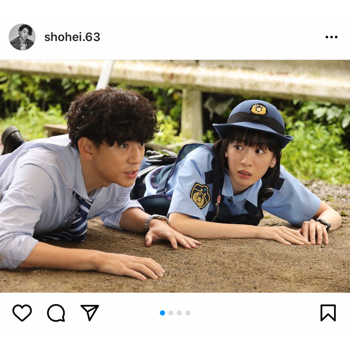 三浦翔平、ハコヅメ撮影ショットで永野芽郁の頭をポンポン?「かっこいーい」「顔面良すぎ」