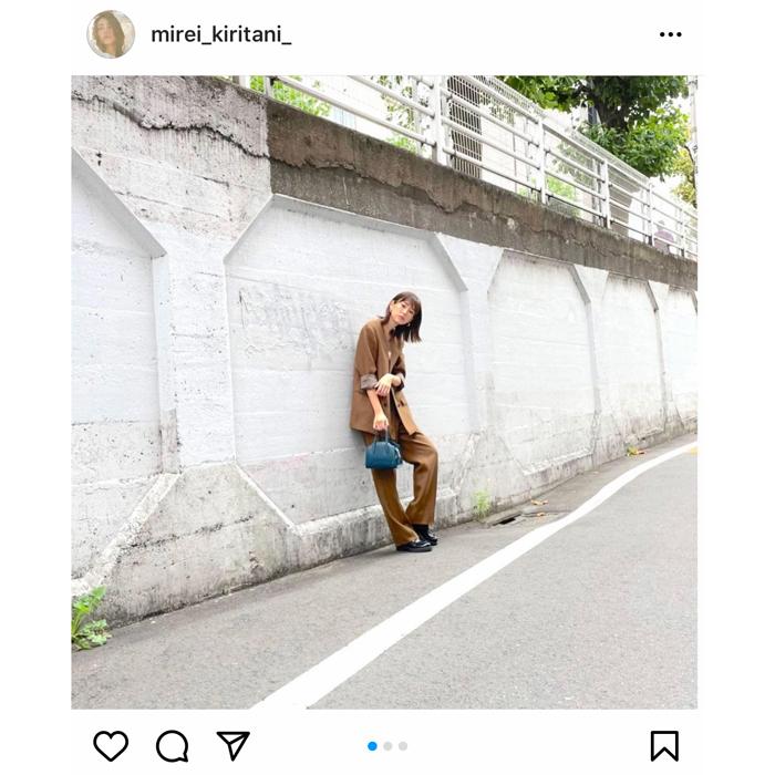 桐谷美玲、ブラウンセットアップの秋コーデがスタイリッシュすぎる!「おしゃれ」「ガチ可愛い」