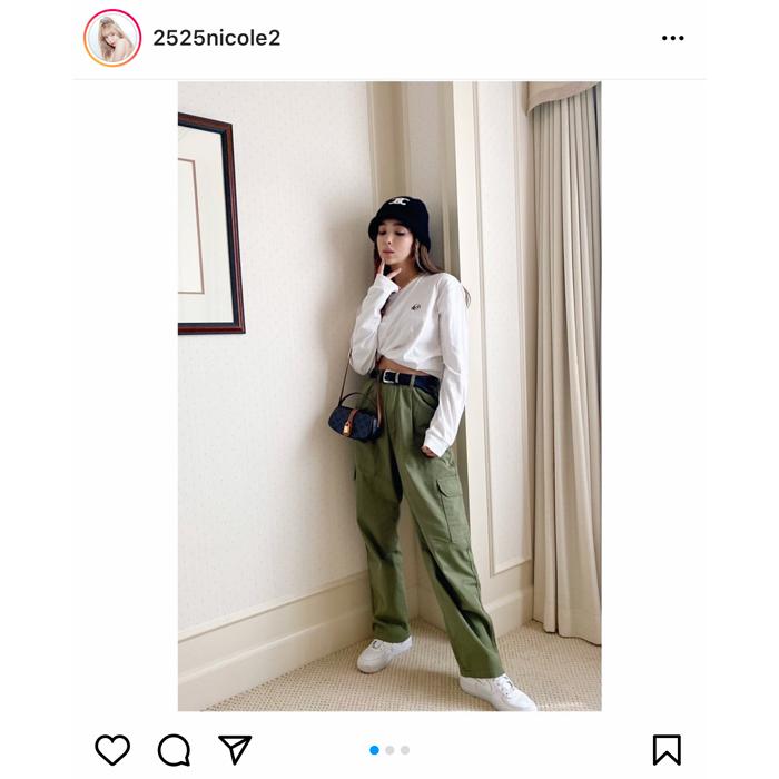 藤田ニコル、ストリートスタイルのヘソ出し私服を公開!「かっこいい」「私服めっちゃ素敵」