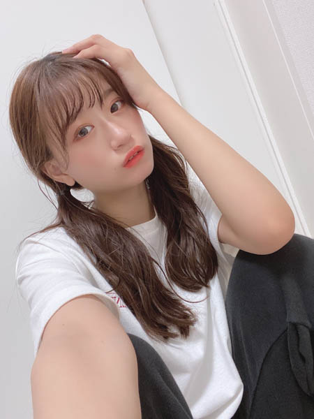 NMB48 上西怜、ツインテールの自撮りショットに歓喜の声!