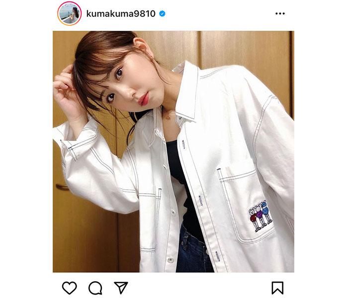 SKE48 熊崎晴香、プロデュースしたオーバーシャツの着こなし紹介「いい感じだね」「カッコいいお姉さん」と反響も