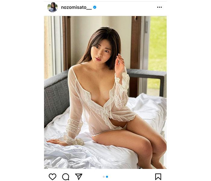 佐藤望美、シースルー衣装で大胆セクシー「健康的なセクシーさ」