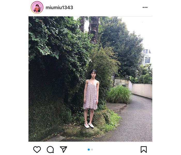 AKB48 下尾みう、ワンピース姿のナチュラルポートレートを披露